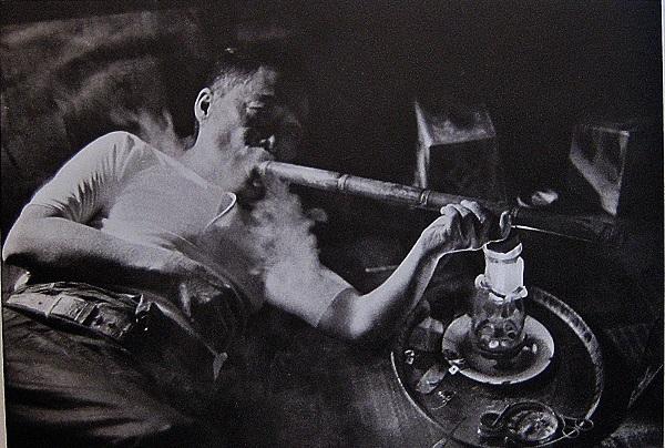 man opium smoker